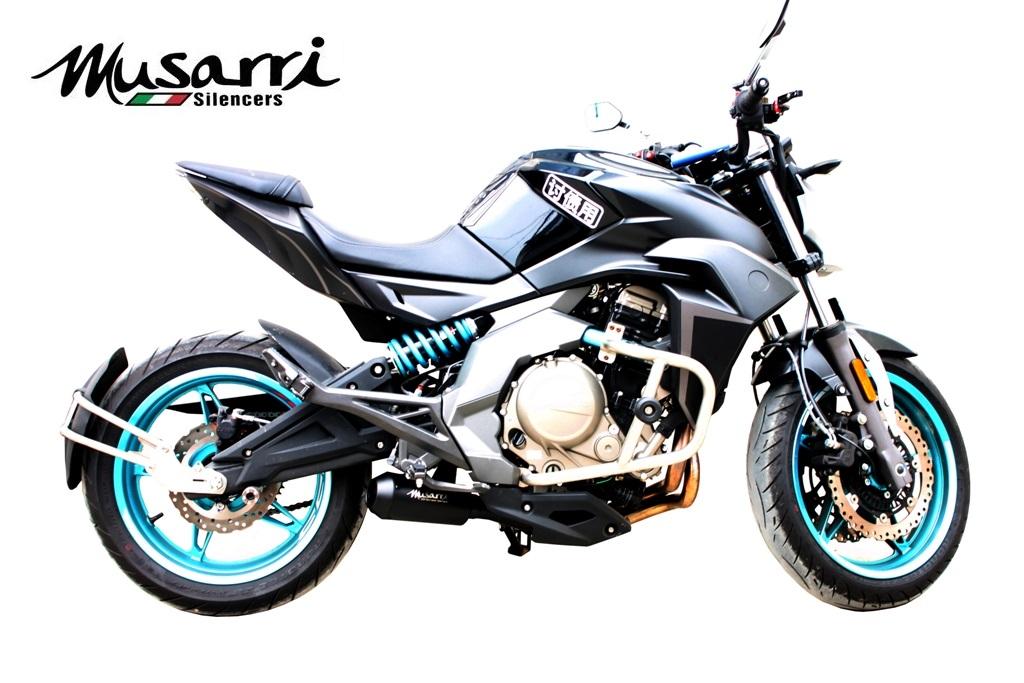 CFmoto 650NK 2012-2018 Musarri Black GP Street Series slipon exhaust ...
